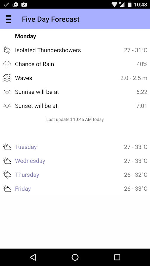 Curaçao Weather- screenshot