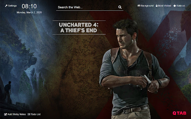 Uncharted 4 Wallpapers Uncharted 4 New Tab Hd