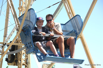 Photo: (Year 3) Day 25 - Matthew and Rog on the Ferris Wheel