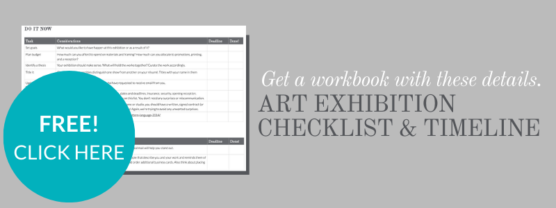 Checklist and timeline for your art show