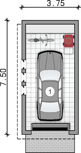 ZC 9 - Rzut garażu