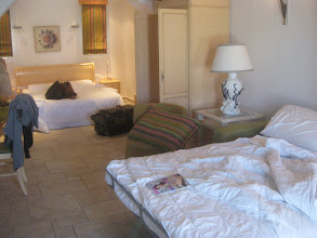 Photo: Bedding is perfect for your small group, with a king bed plus pull-out sofa