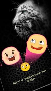 Black Cheetah Theme&Emoji Keyboard - náhled