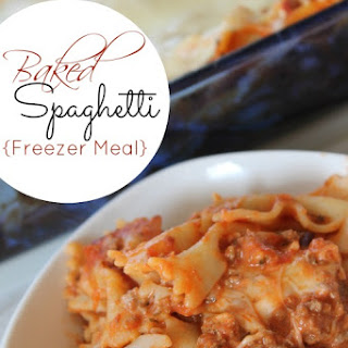 Baked Spaghetti Freezer Meal