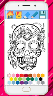 Sugar Skull Coloring Mandala Book Google Playde Uygulamalar