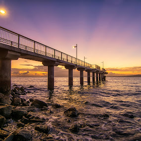 Murray's Bay dawn, Auckland by Graeme Hunter - Buildings & Architecture Bridges & Suspended Structures