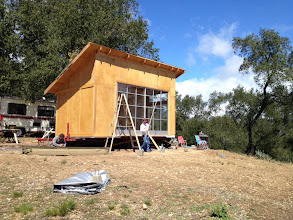 Photo: Construction is in progress on the largest tiny house ever built with Sing Panels. It's 12' x 20' and can be towed behind a pickup truck!