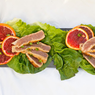 Ginger Orange Seared Ahi Tuna.