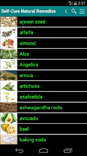 Self Cure natural remedies for ailment and illness- screenshot thumbnail