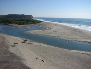 Photo: The delta where the Copilita River meets the Pacific.