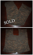 Photo: $10 Old Navy Maternity. Fold Over or wear over belly wasitband. Khaki Material Camo. Wear as pants or sides cinch and tie to wear as capris. Flap pockets and cargo pockets. Size XL. Very lightweight Cotton Spandex.
