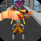 3D Goku Saiyan Dash Surfer Fly