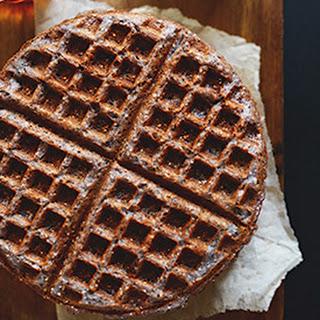 Simple Blue Cornmeal Waffles.
