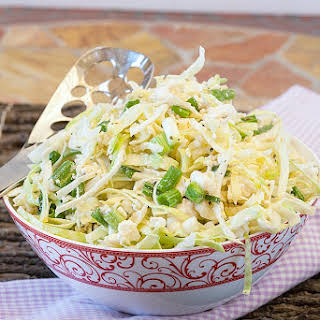 Healthy Marinated Coleslaw with Feta.
