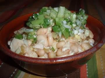 White Chicken Chili with Salsa Verde