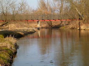 Photo: 31,9 km kładka za mostem kolejowym