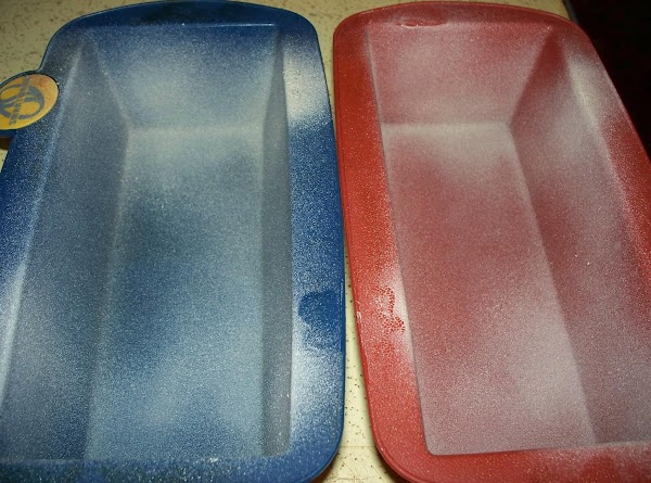 Grease 2 loaf pans or spray with non-stick baking spray and set aside.