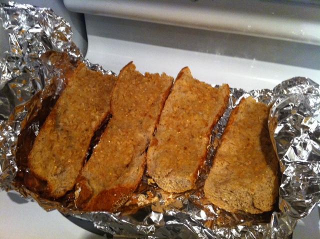 Photo: Freshly prepared garlic bread.