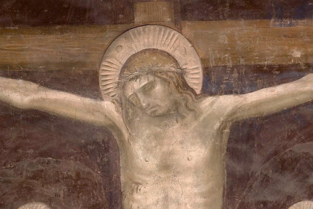 Andrea Orcagna, Cenacolo, particolare della Crocifissione, Santo Spirito (Fondazione Salvatore Romano), 1360-65 ca.