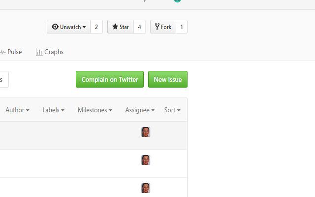 Complain On Twitter for GitHub