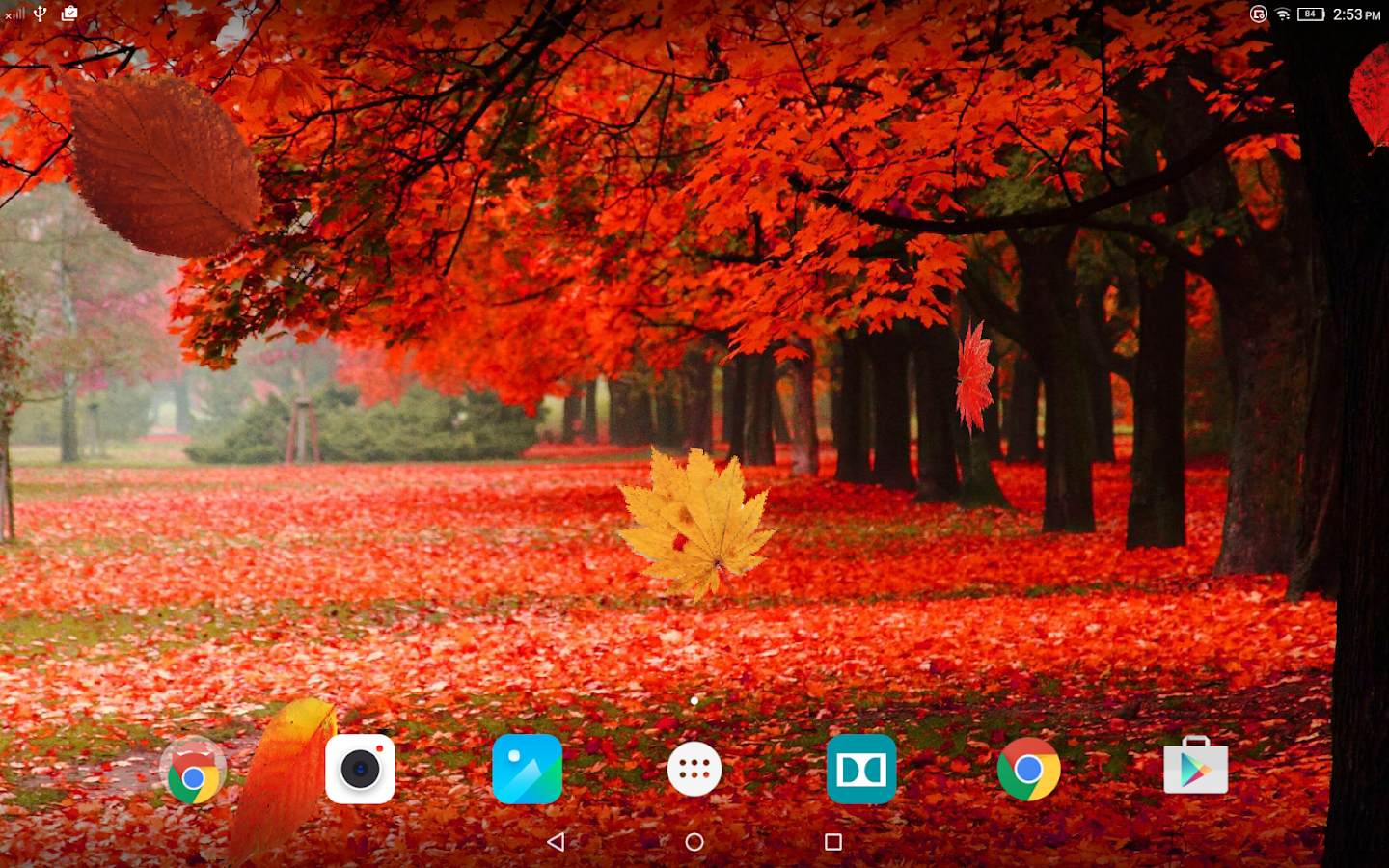 The Yellow Wallpaper Falling Action Autumn Forest Live Wallpaper Android Apps On Google Play