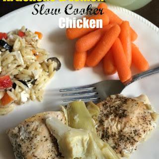 Artichoke & Lemon Slow Cooker Chicken.