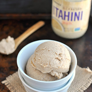 No Churn Tahini Cardamom Ice Cream.