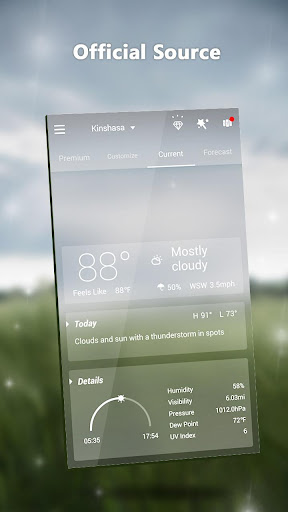 GO Weather Lite - Forecast, Widget, Light 1.1 screenshots 3