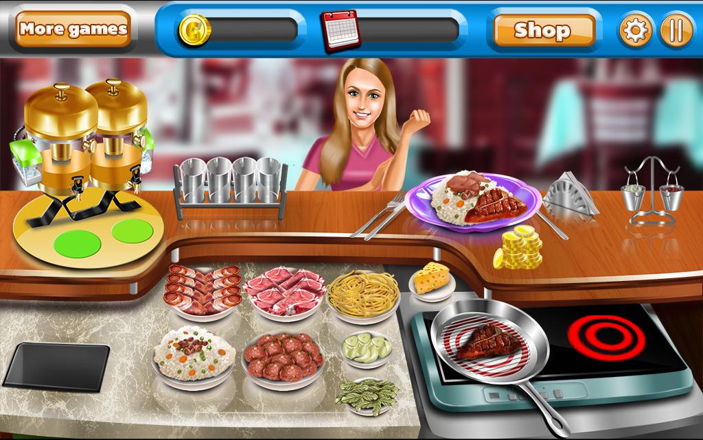 Free Restaurant Serving Games