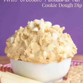 Flourless White Chocolate Macadamia Nut Cookie Dough Dip.