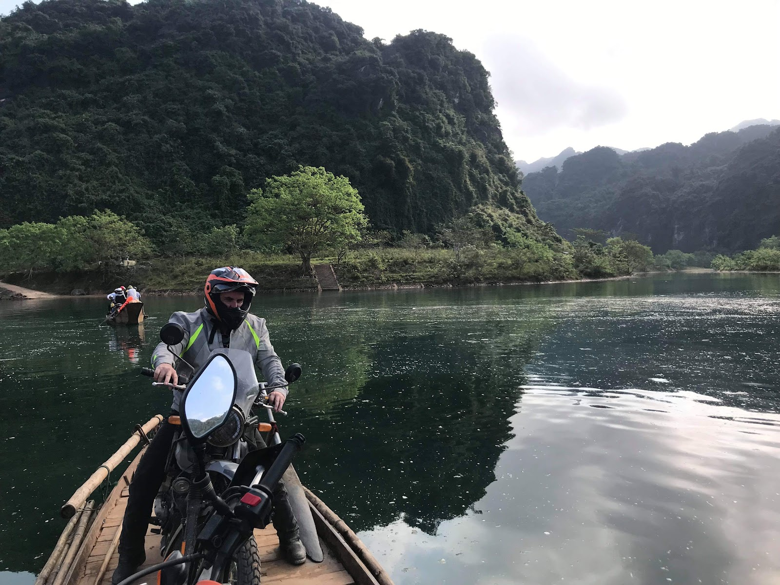 an advantage of traveling light on a Royal Enfield motorbike tours of Vietnam