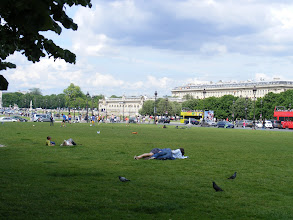 Photo: And on the rest of the Esplanade, a mix of football and general lazing away the pleasant Sunday afternoon.