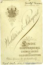 Photo: Bäckhaga 1899. baksida
