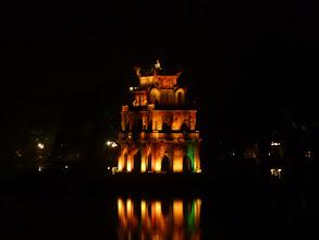 Photo: Želví věž na ostrůvku v Jezeře navráceného meče v centru Hanoje