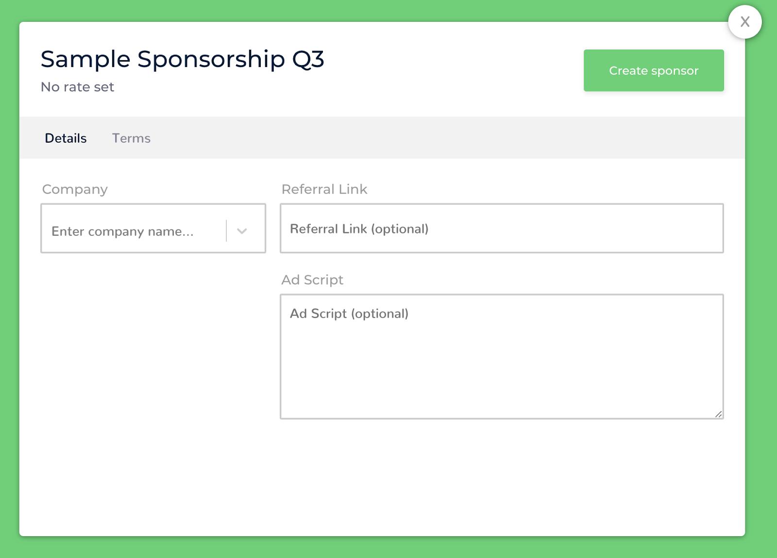 Sponsors vs  Sponsorships