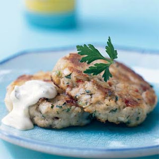 Potato Cod Cakes with Dijon Tartar Sauce