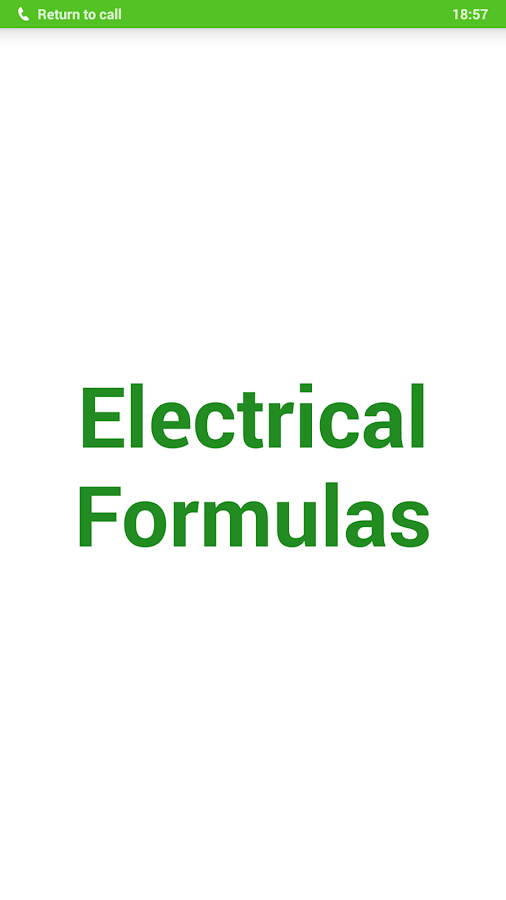 Electrical Formulas- screenshot