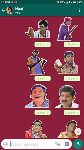 Sticker Kadai:Tamil Whatsapp Sticker-WAStickerApps 2.25 screenshots 1