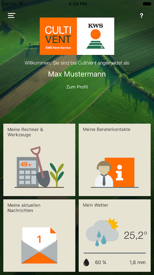 KWS CultiVent- screenshot