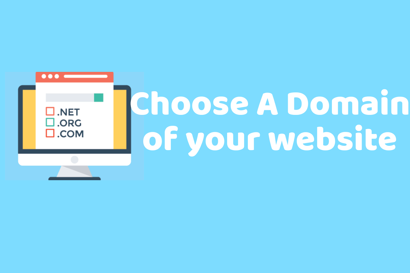 Choose a domain of your website to start blog.