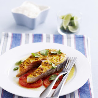 Spiced Salmon with Tomatoes