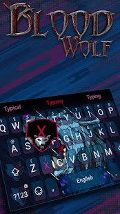 Blood Wolf Theme&Emoji Keyboard - náhled