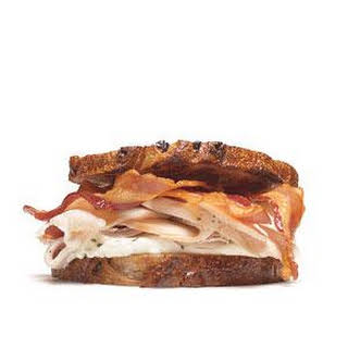 Turkey Sandwich With Cream Cheese and Bacon.