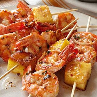 Shrimp Pineapple Skewers Recipes