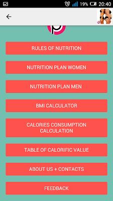 Nutrition Plan for Weight Loss - screenshot