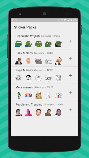 Meme Stickers for WhatsApp 1.07 screenshots 2