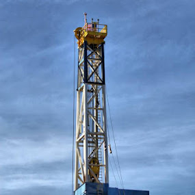 Oil drilling towers in the Bakken by Stacy Swenson - Products & Objects Industrial Objects