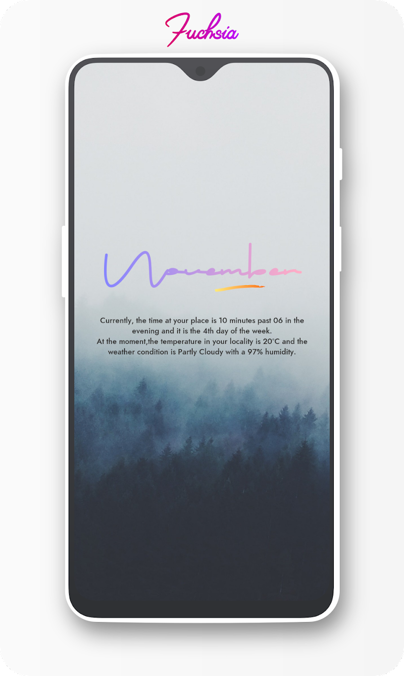 Fuchsia KWGT - Gradient Based Widgets Screenshot 4