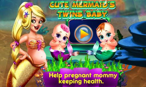 Cute Mermaid's Twins Baby