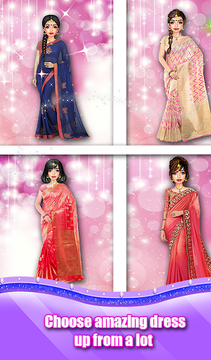 Indian Wedding Saree Designs Fashion Makeup Salon  screenshots 3